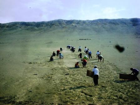 En las alturas de la montaña de arena