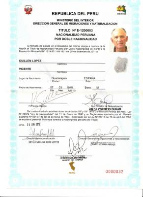 Ahora soy un peruano nacido en España.