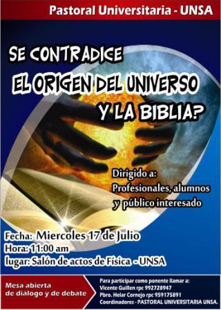 EL ORIGEN DEL UNIVERSO: CIENCIA VS BIBLIA